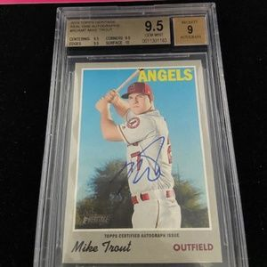 Mike Trout Autograph Topps Real Ones 9.5 GEM MINT!